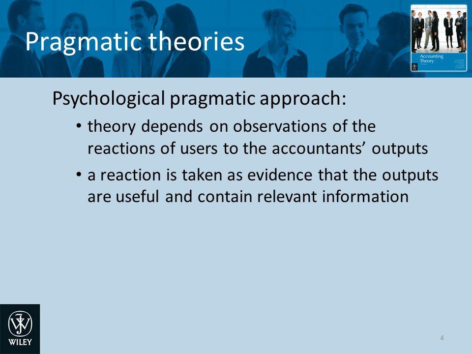 Pragmatic theories Psychological pragmatic approach: