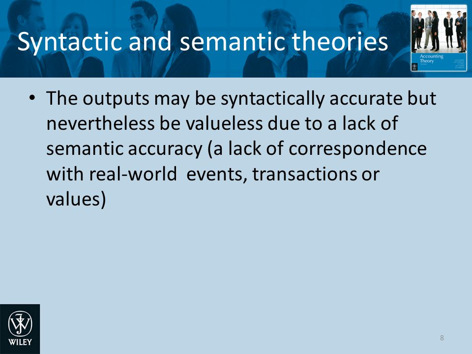 Syntactic and semantic theories