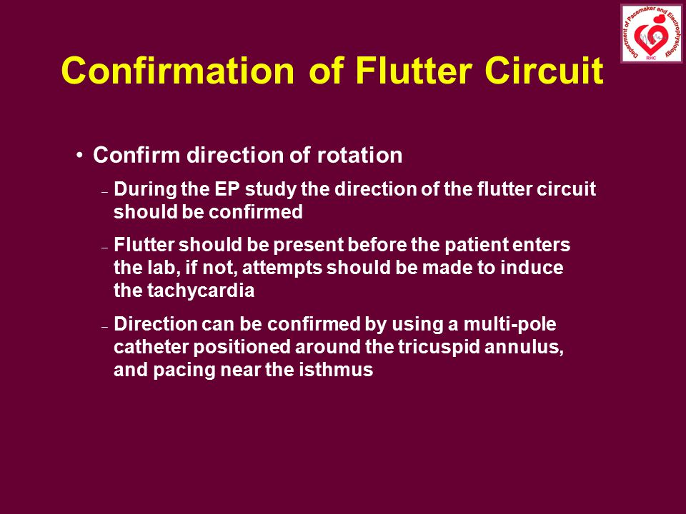 Confirmation of Flutter Circuit