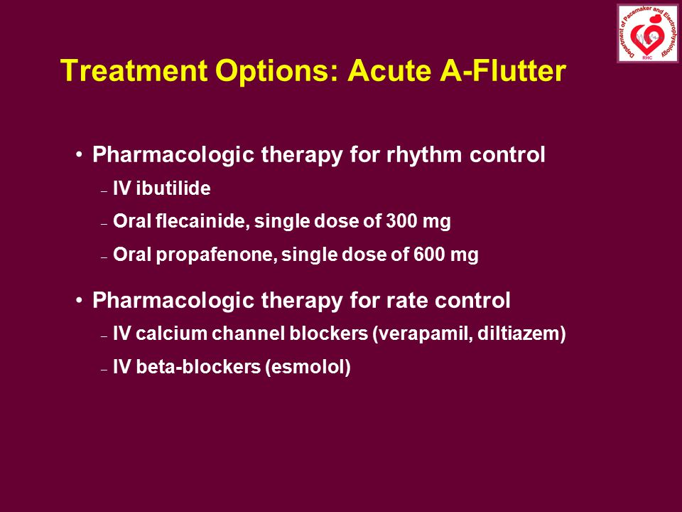 Treatment Options: Acute A-Flutter
