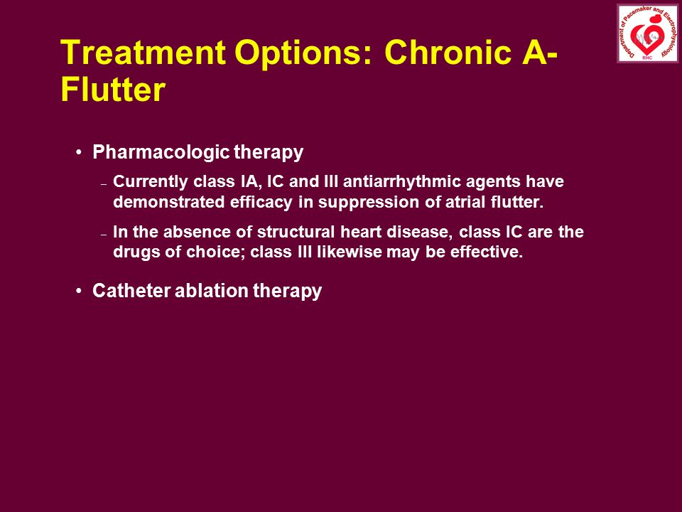 Treatment Options: Chronic A-Flutter