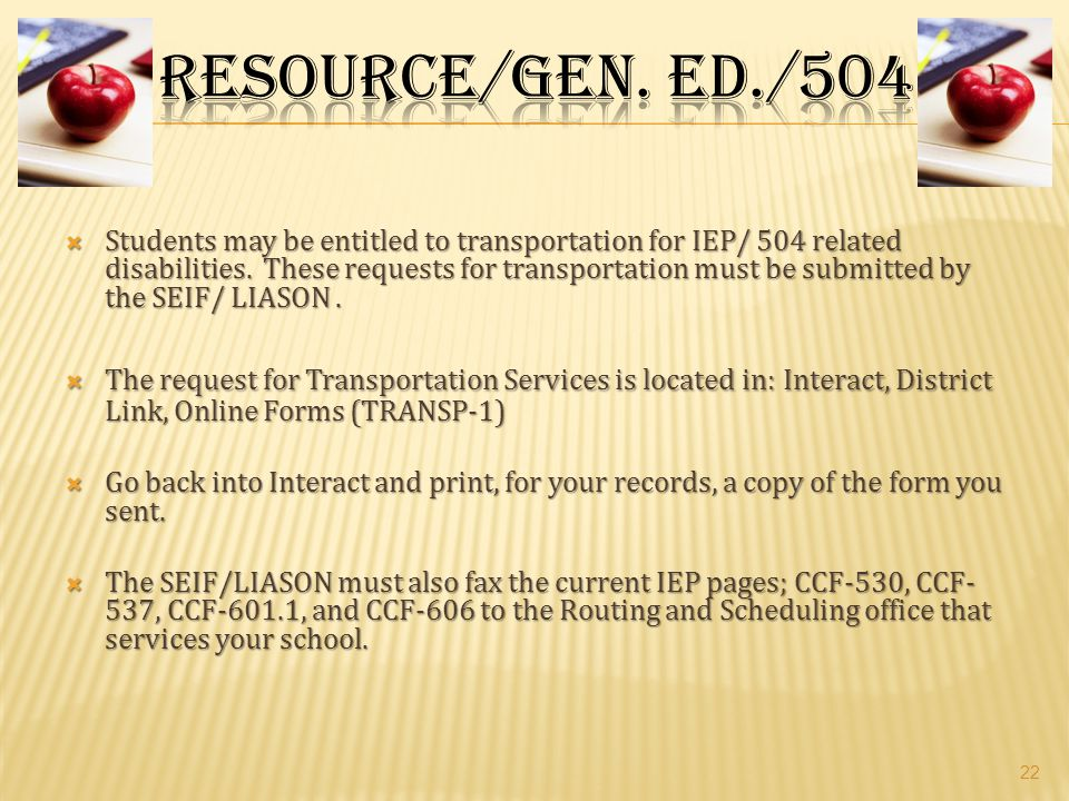 Resource/Gen. Ed./504