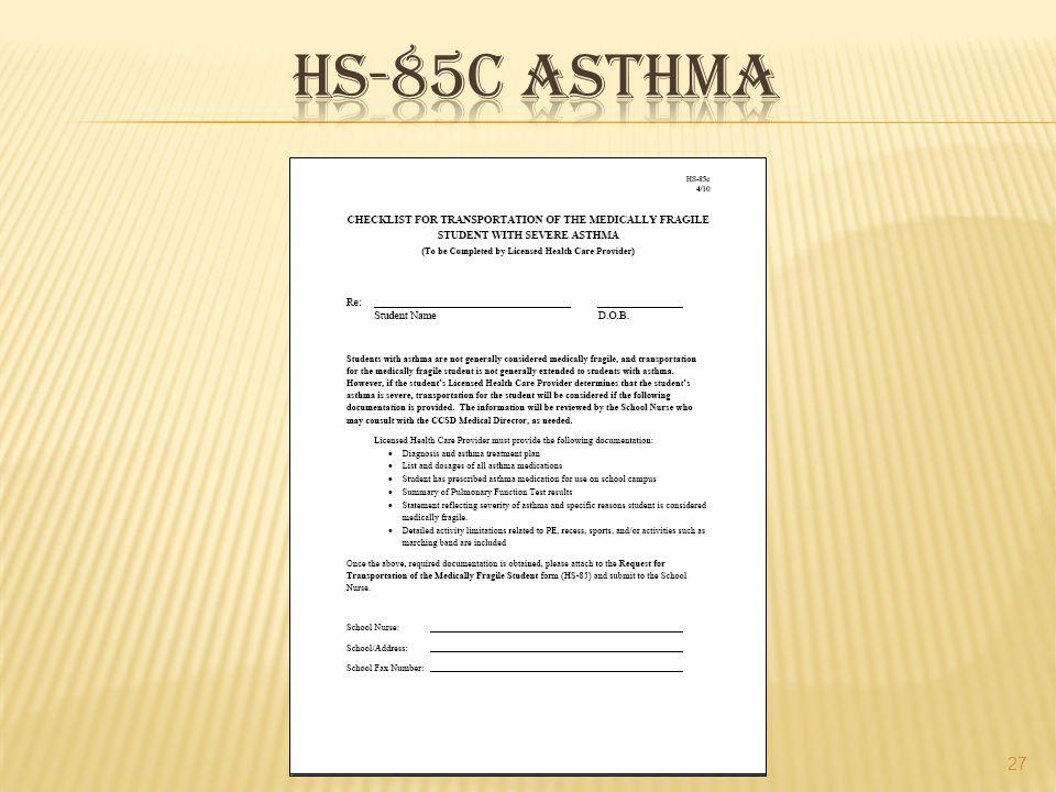 Hs-85c asthma