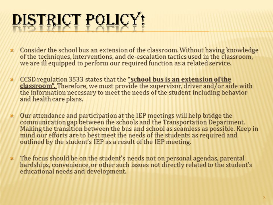District Policy!