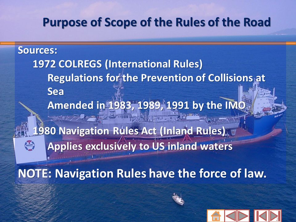 Purpose of Scope of the Rules of the Road