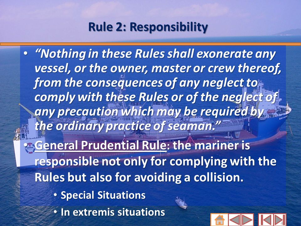 Rule 2: Responsibility