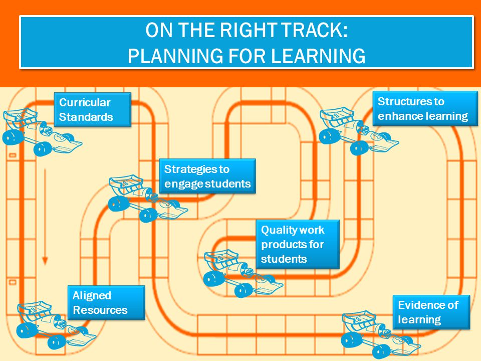 ON THE RIGHT TRACK: Planning for learning