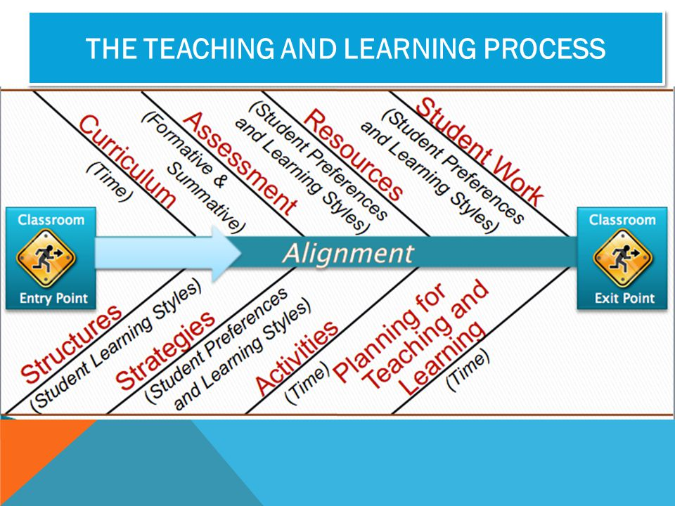 THE TEACHING AND LEARNING PROCESS