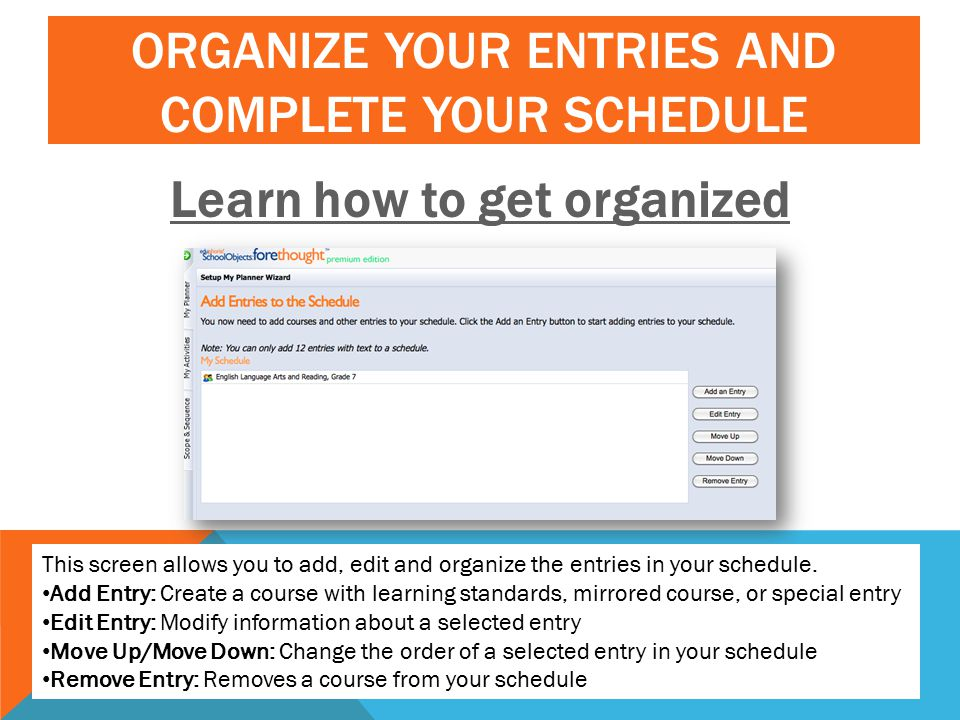Learn how to get organized