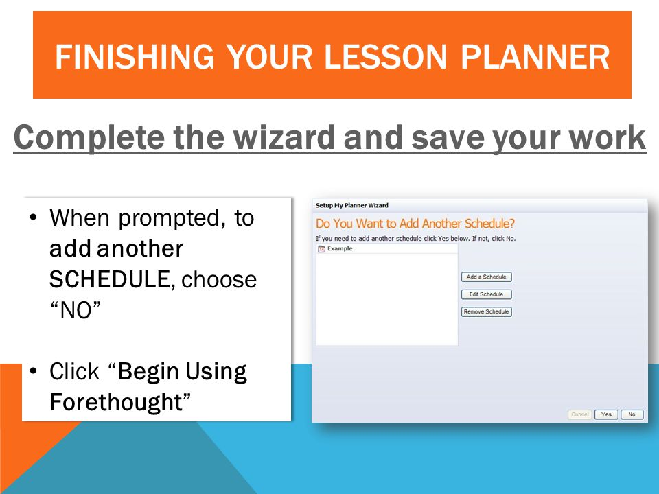 Complete the wizard and save your work