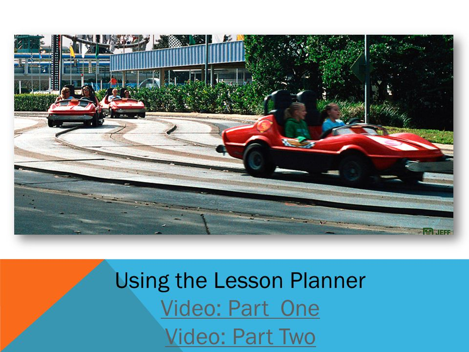 Using the Lesson Planner