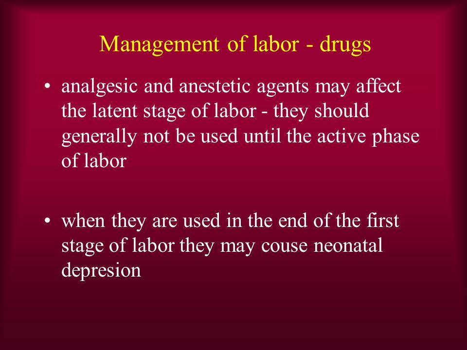 Management of labor - drugs