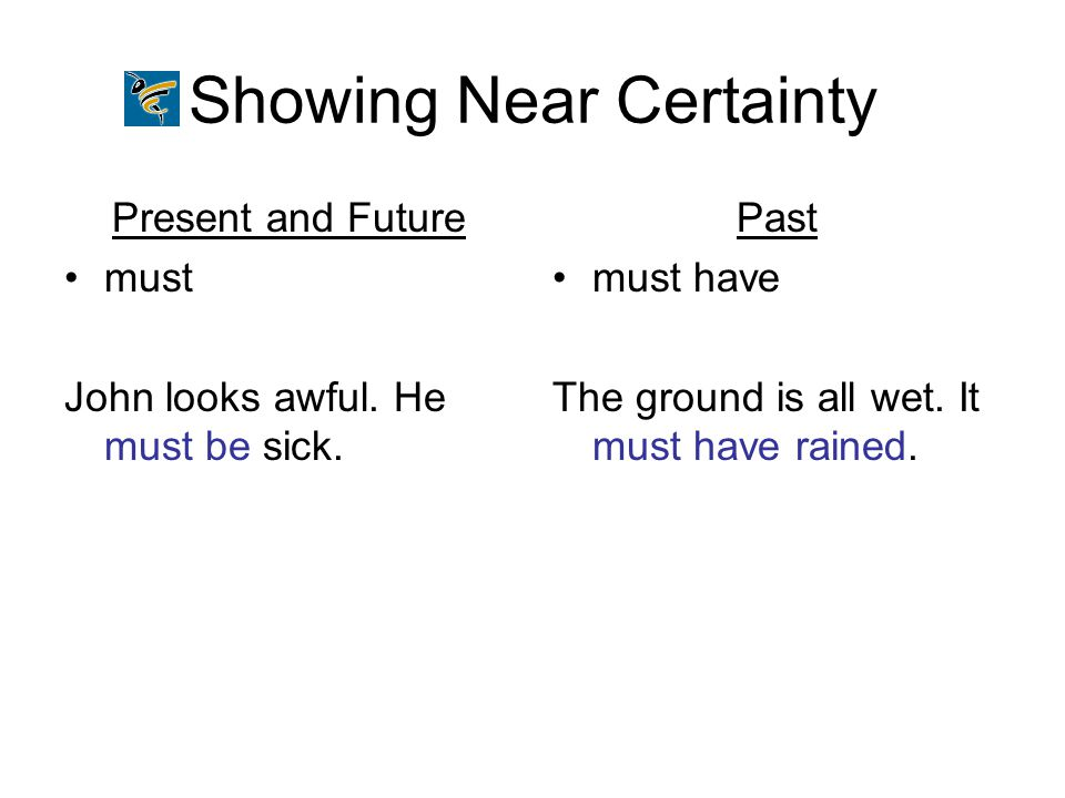 Showing Near Certainty