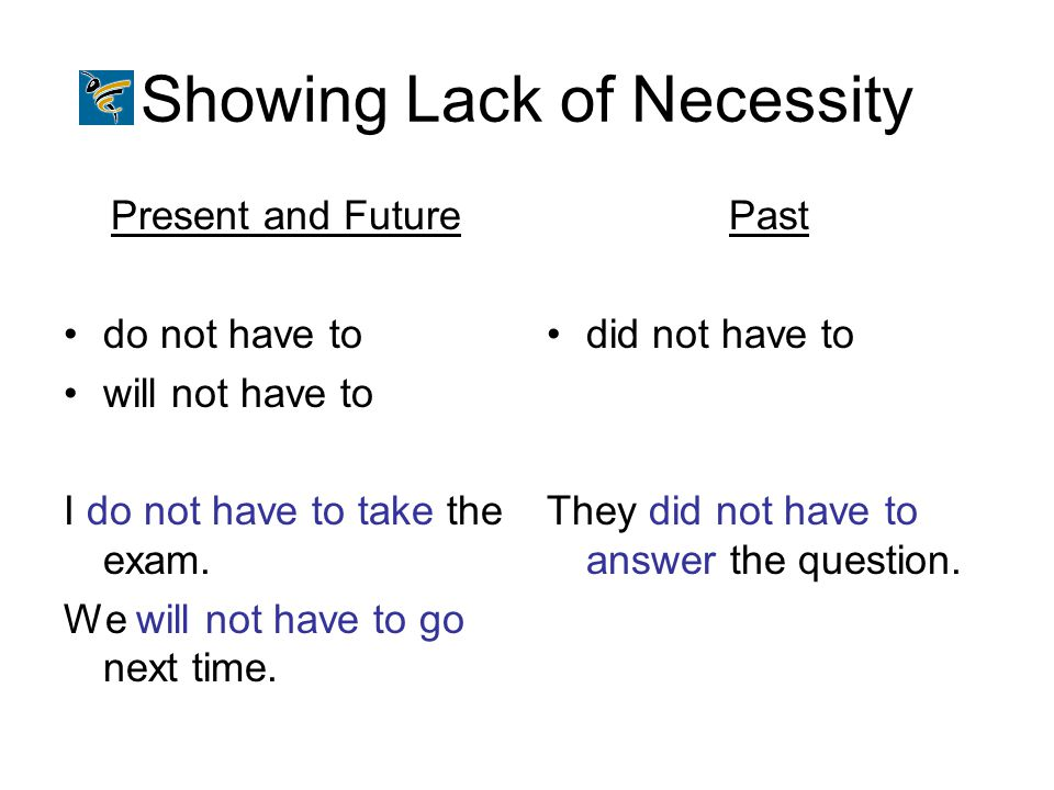 Showing Lack of Necessity