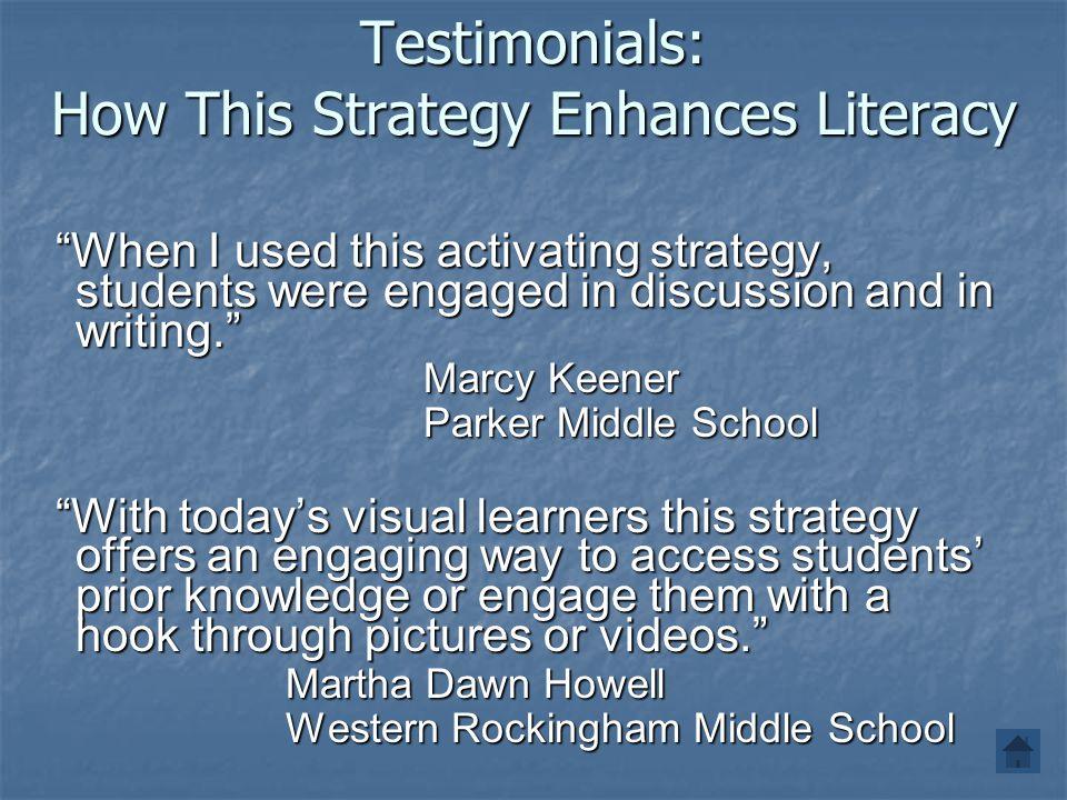 Testimonials: How This Strategy Enhances Literacy