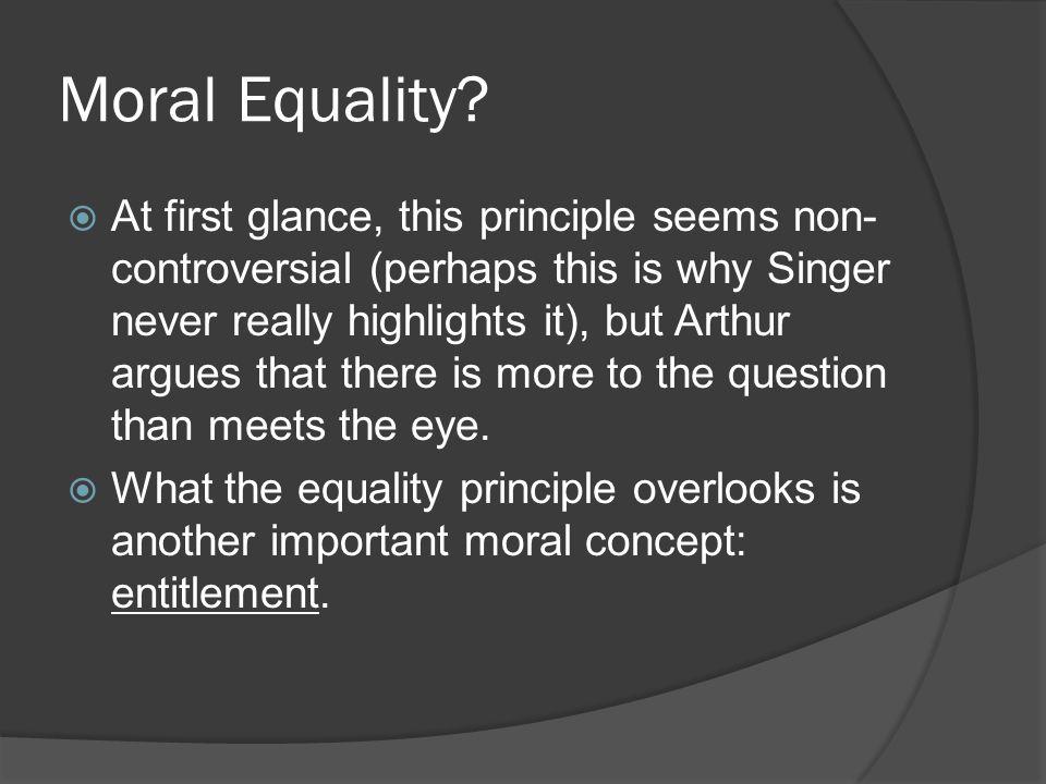 Moral Equality