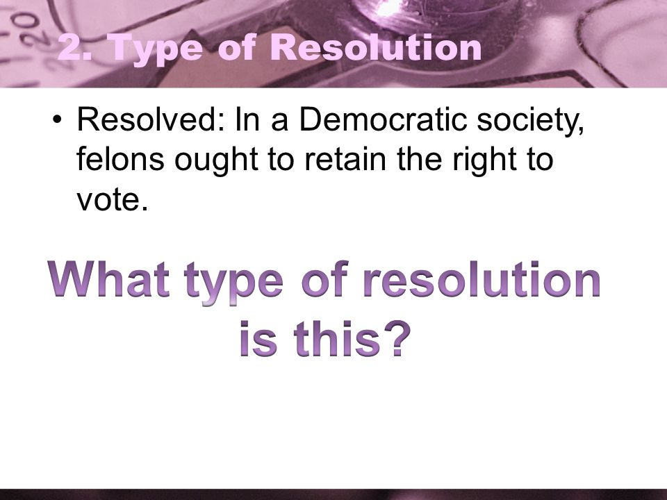 What type of resolution is this