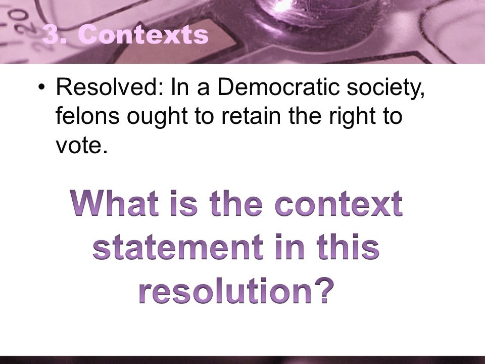 What is the context statement in this resolution