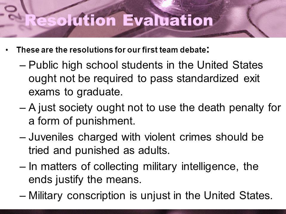 Resolution Evaluation