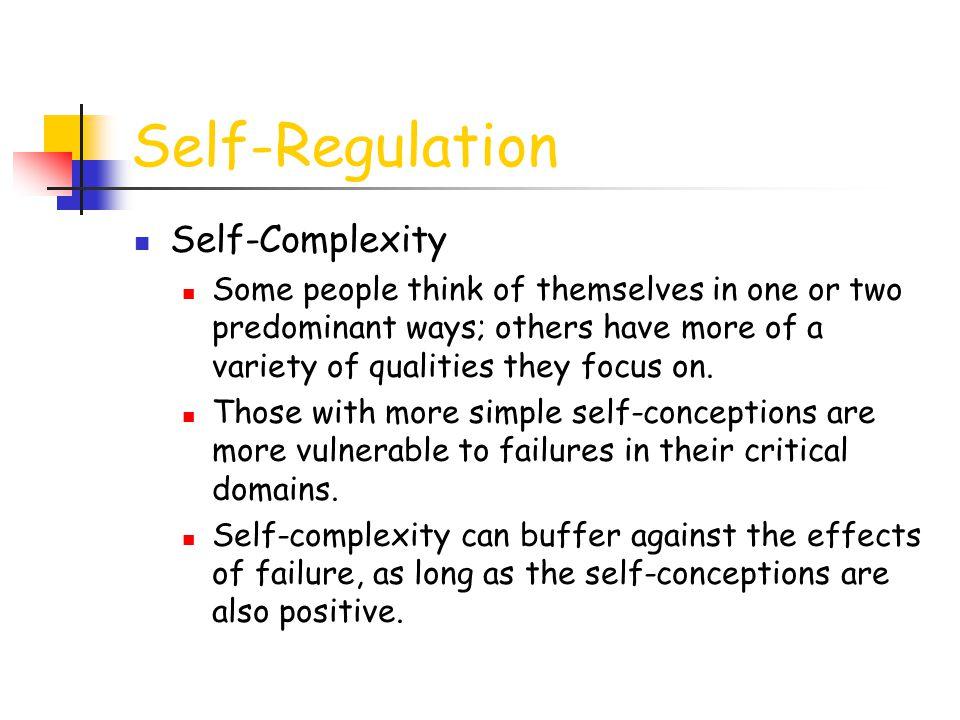 Self-Regulation Self-Complexity