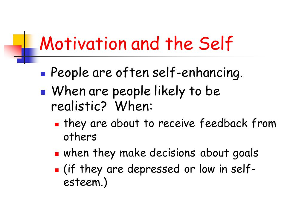 Motivation and the Self