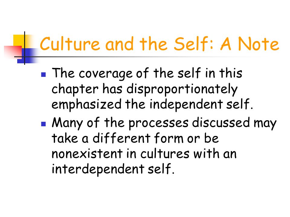 Culture and the Self: A Note