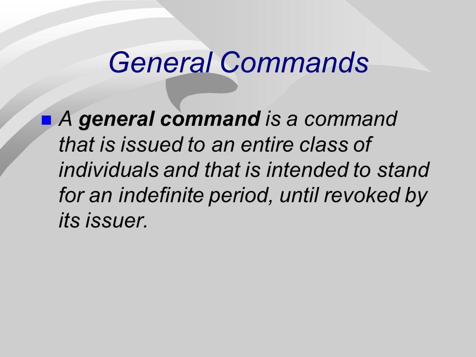General Commands