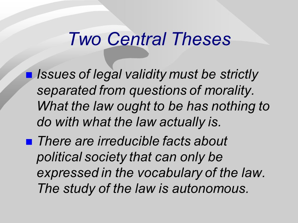 Two Central Theses