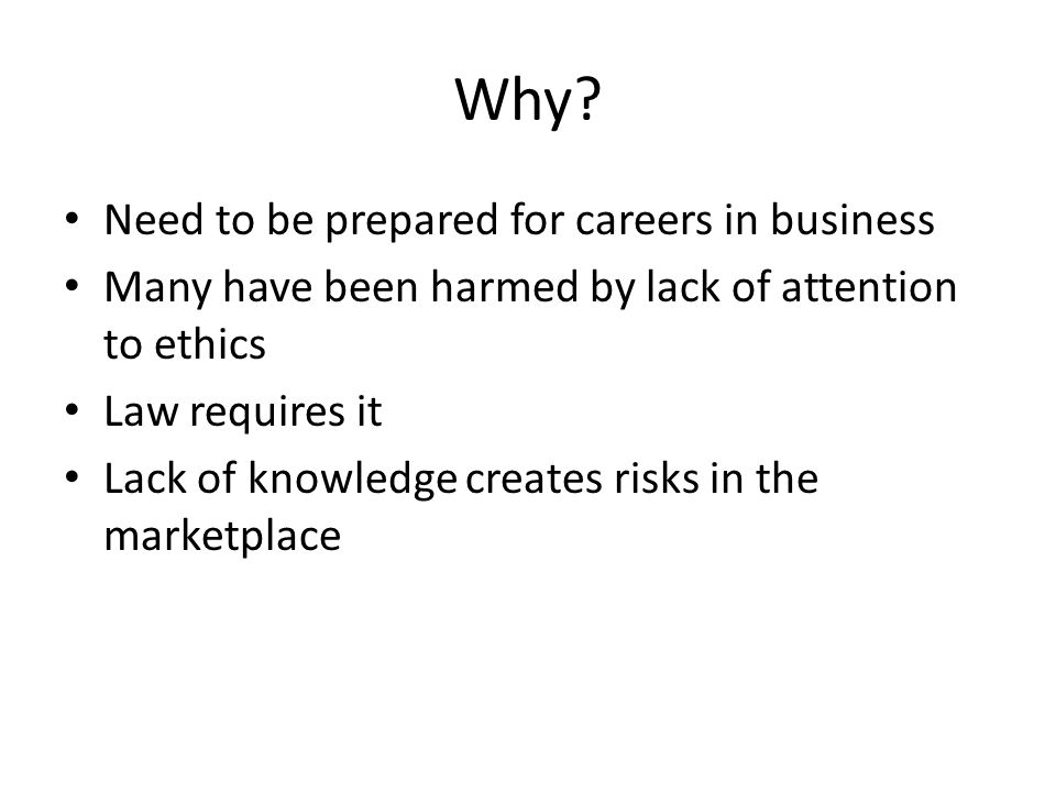 Why Need to be prepared for careers in business