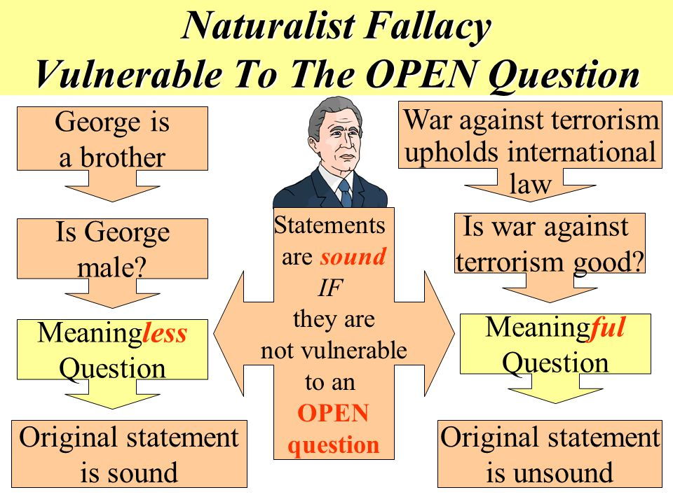Naturalist Fallacy Vulnerable To The OPEN Question