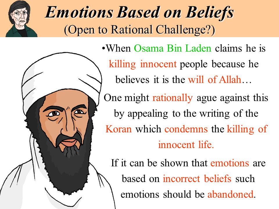 Emotions Based on Beliefs (Open to Rational Challenge )