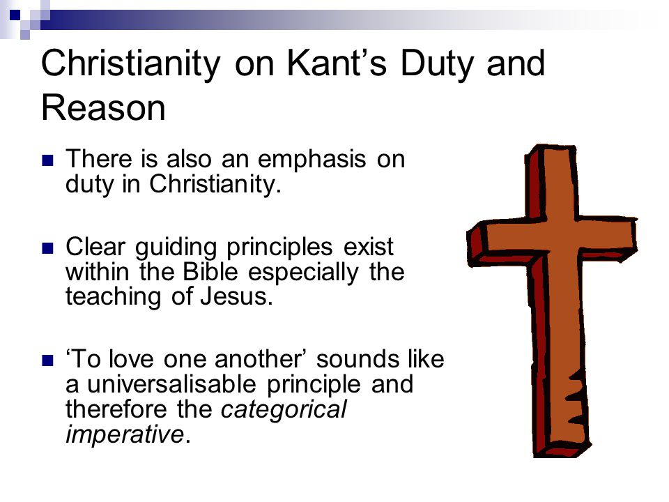 Christianity on Kant's Duty and Reason