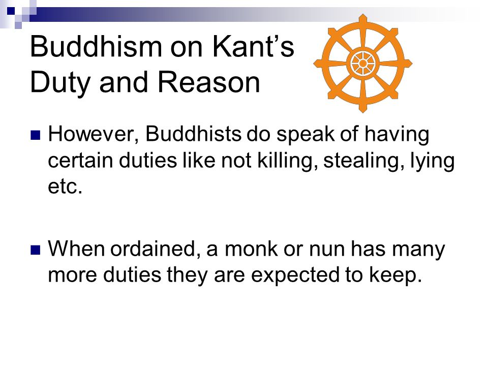 Buddhism on Kant's Duty and Reason