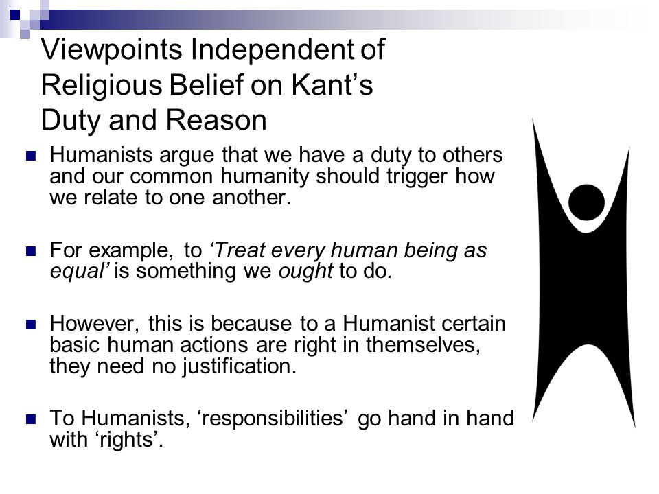 Viewpoints Independent of Religious Belief on Kant's Duty and Reason