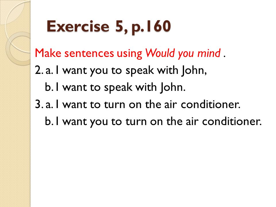 Exercise 5, p.160