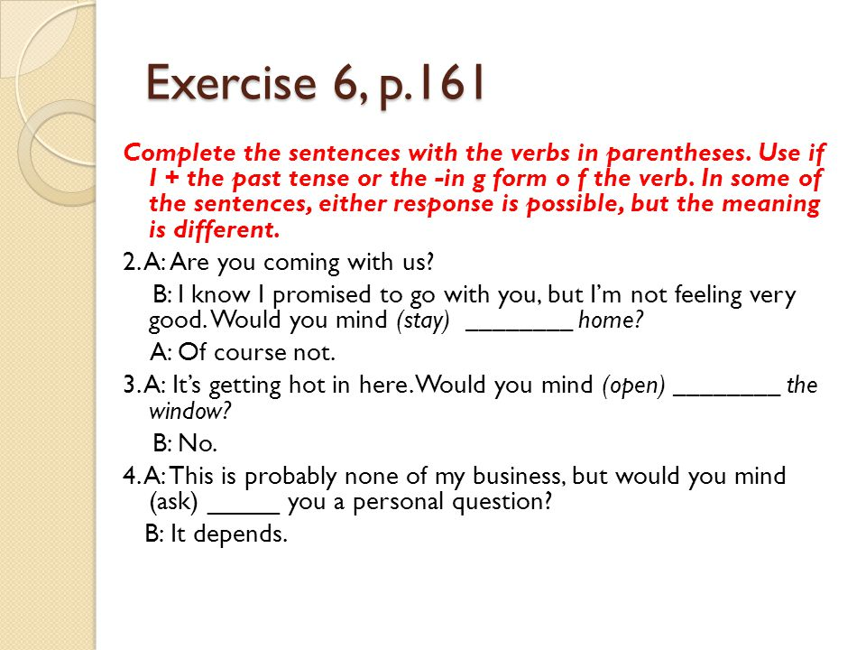 Exercise 6, p.161