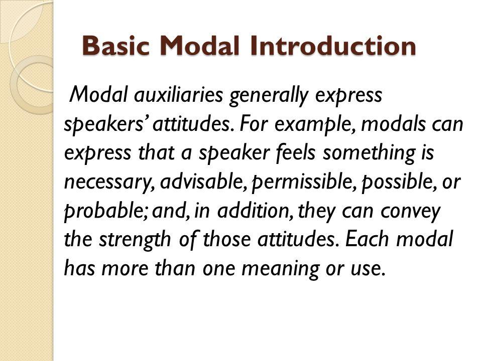 Basic Modal Introduction