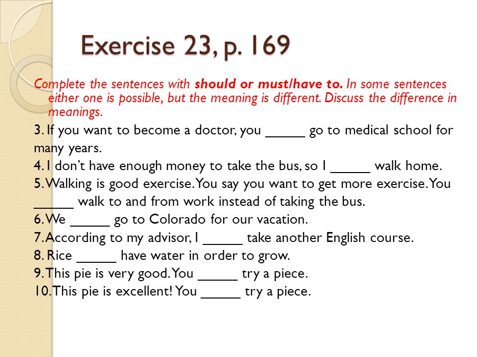 Exercise 23, p. 169