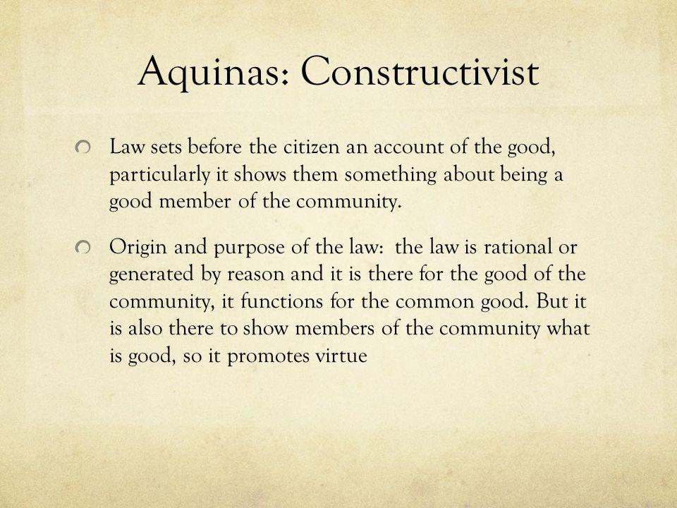 Aquinas: Constructivist