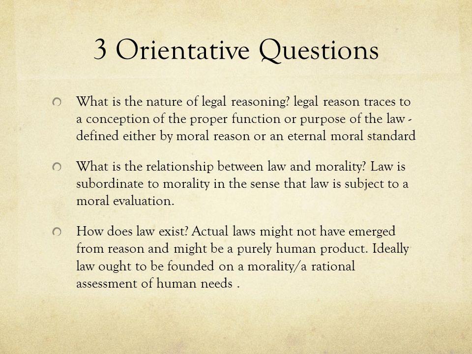 3 Orientative Questions
