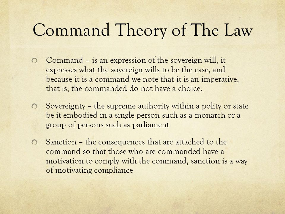 Command Theory of The Law