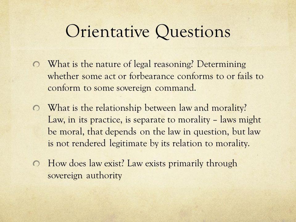 Orientative Questions