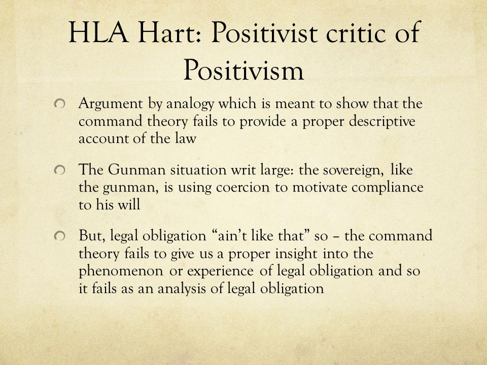 HLA Hart: Positivist critic of Positivism