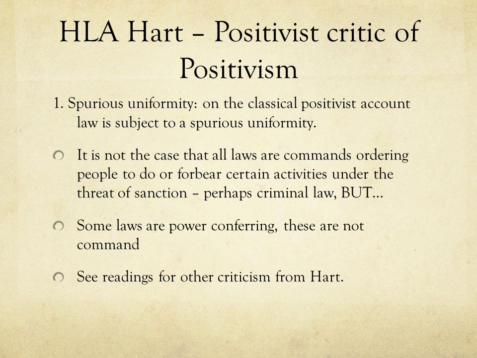 HLA Hart – Positivist critic of Positivism
