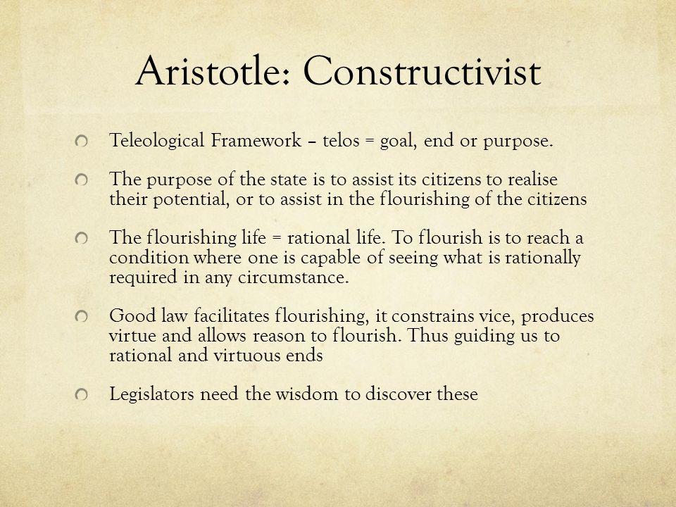 Aristotle: Constructivist