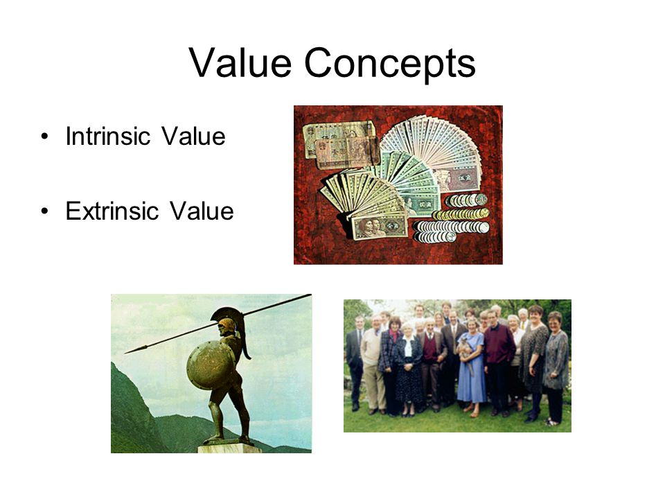Value Concepts Intrinsic Value Extrinsic Value
