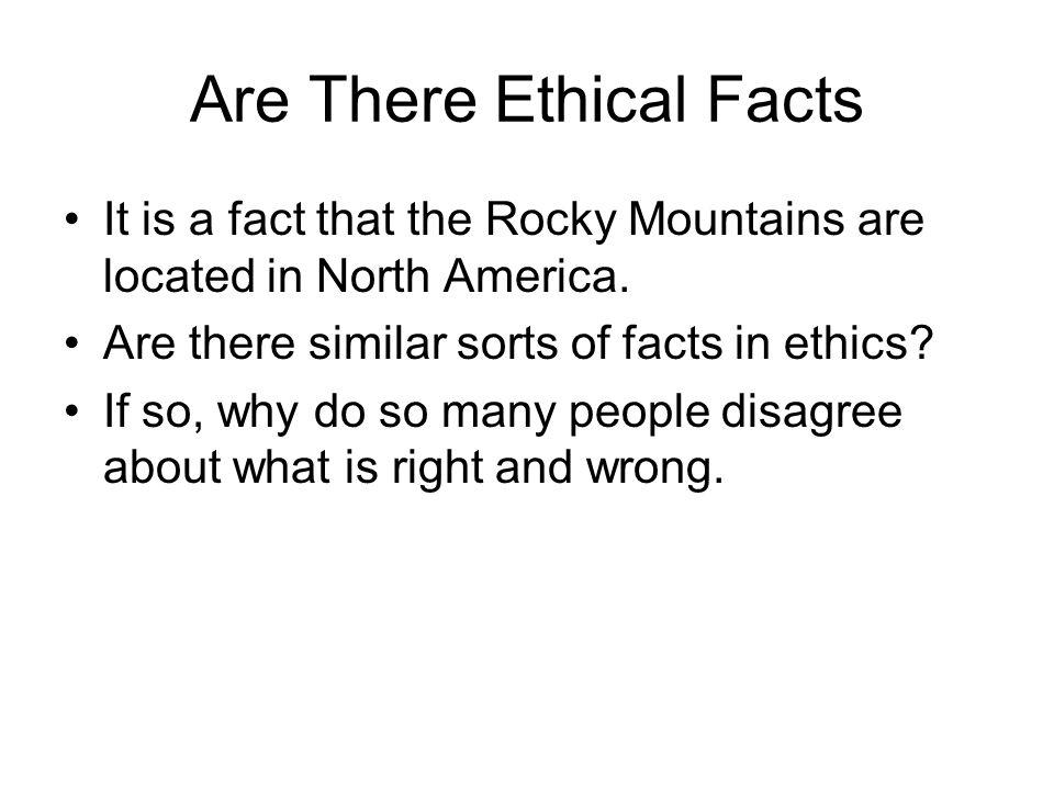 Are There Ethical Facts
