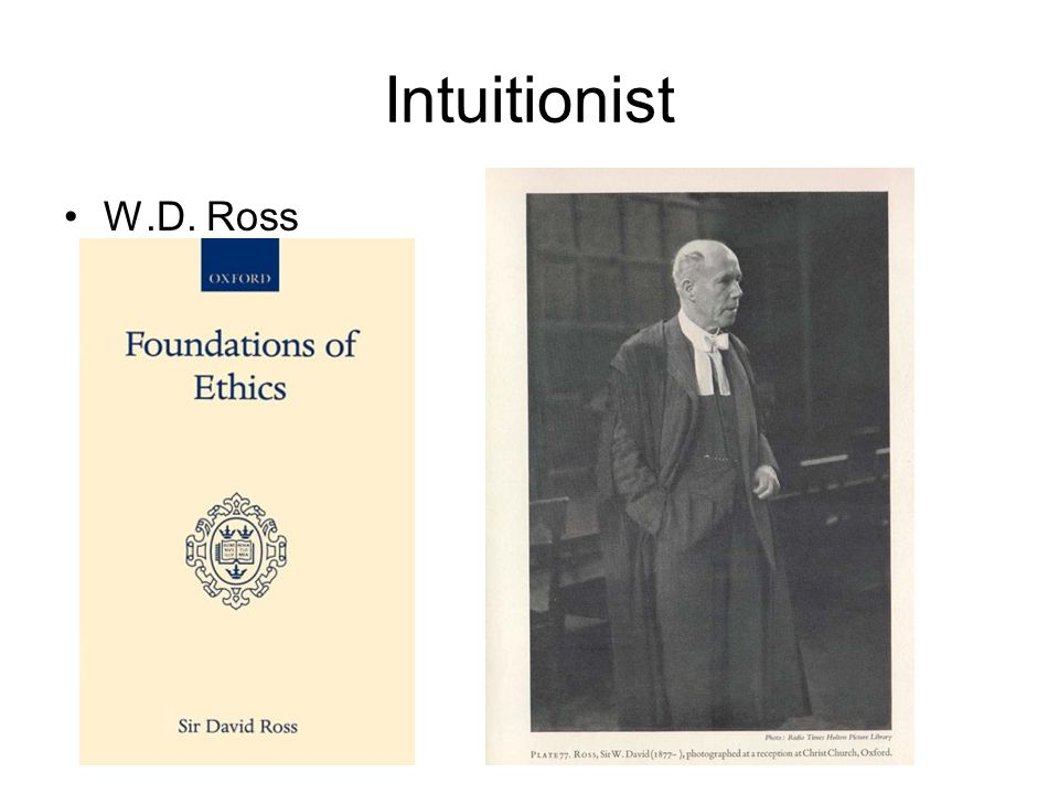 Intuitionist W.D. Ross