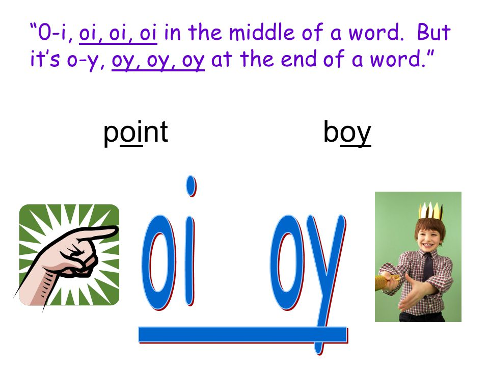 0-i, oi, oi, oi in the middle of a word