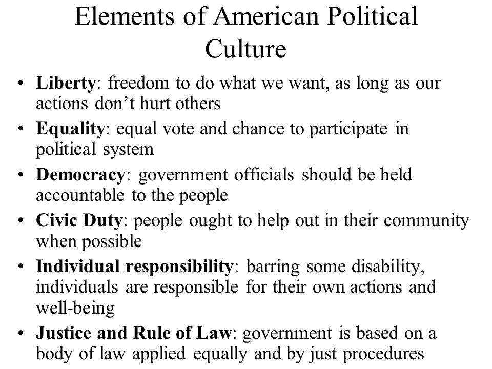 Elements of American Political Culture